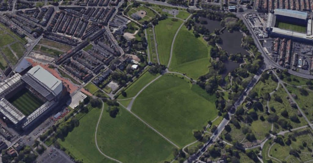 Overview of Stanley Park Liverpool