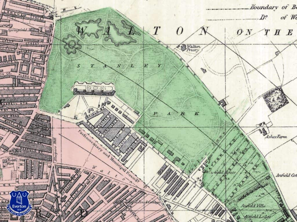 Old Stanley Park Map