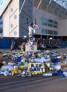 Leeds supporters celebrating the death of Gary Speed