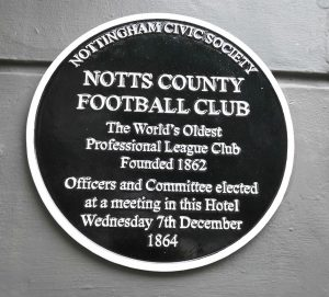 Notts County Plaque Describing The History Of The Club