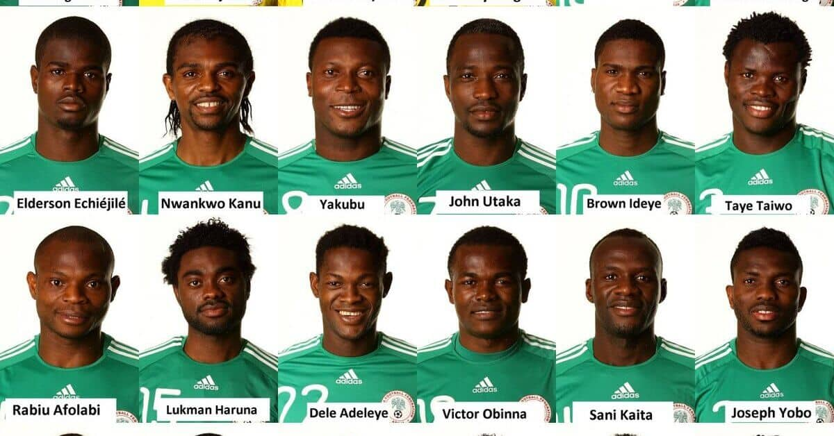 squad members of the 2010 nigeria world cup team