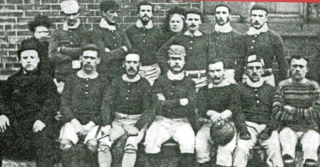 sheffield fc team photo of the original team. They are the world's oldest soccer club