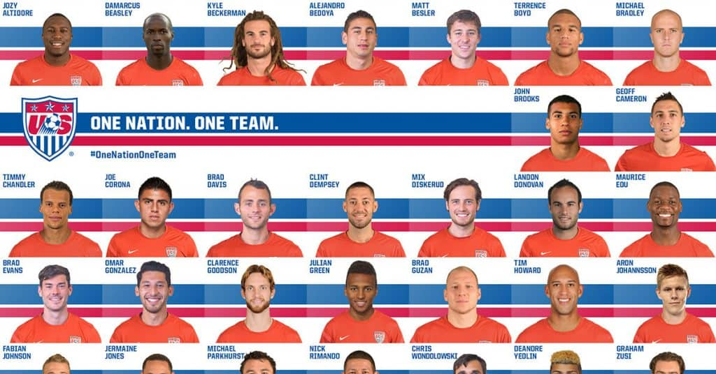 USA World Cup Squad Roster