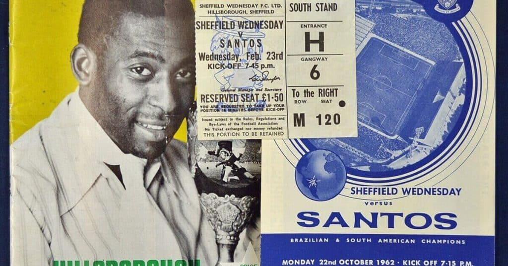 Pele First Game In England