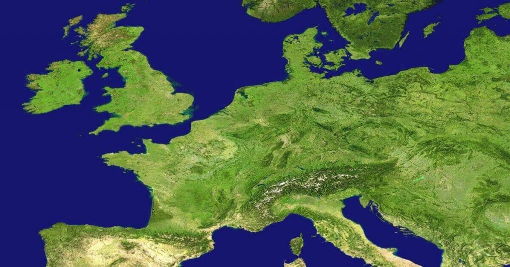 picture map of europe