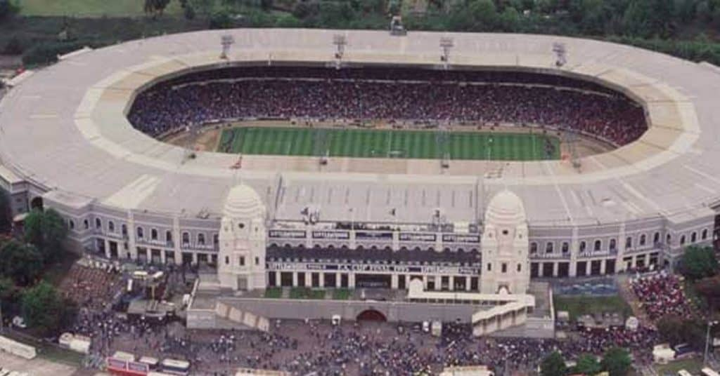 overhead view of the old wembley stadium