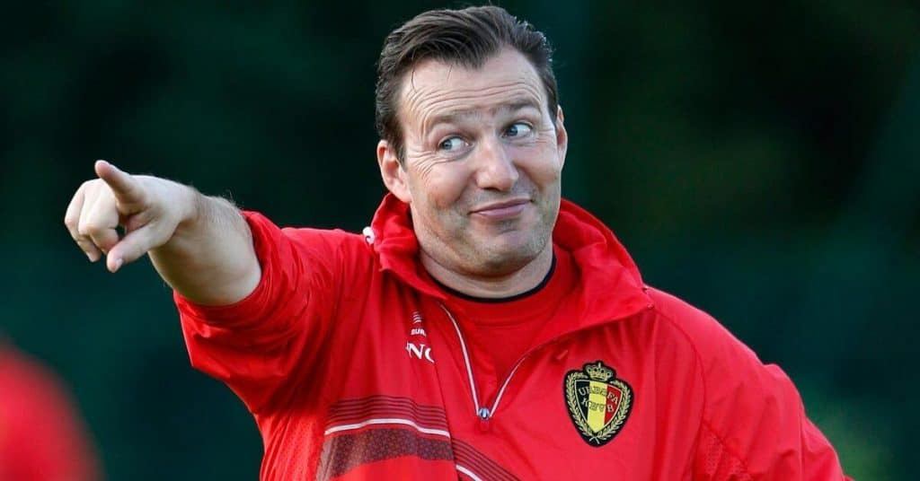 Marc Wilmots coaching the Belgium National Soccer Team