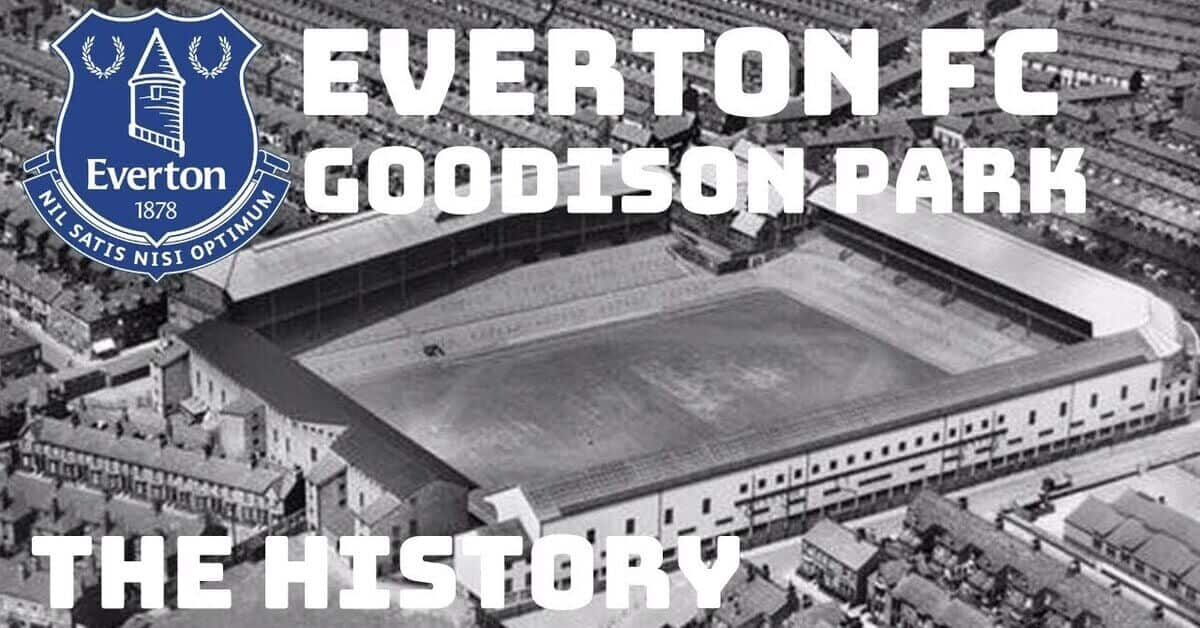 everton football club ground goodison park. A picture from above